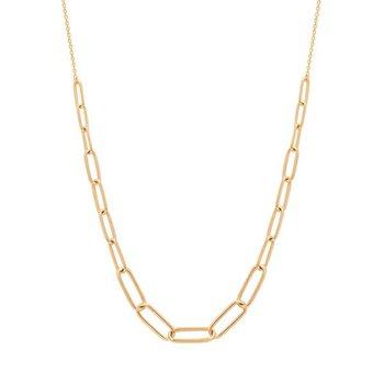 Theodora Paper Clip Necklace