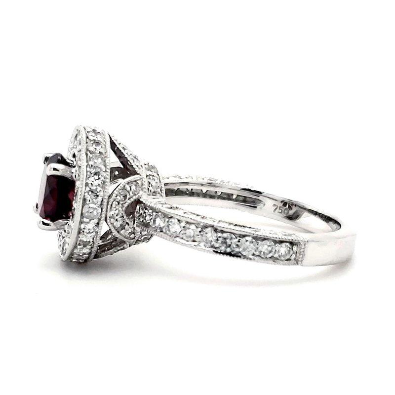 Sartor Hamann Closeouts Garnet and Diamond Crown Ring
