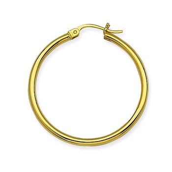 14KT Yellow Gold Hoop Earrings in 6 Sizes