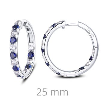 Lafonn Sterling Silver Hoop Earrings