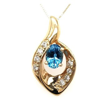 Topaz and Diamond Pendant