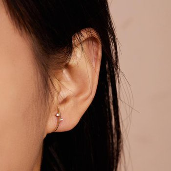 Dora Diamond Arc Earrings