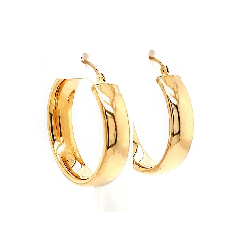 Estate Collection Gold Hoop Earrings