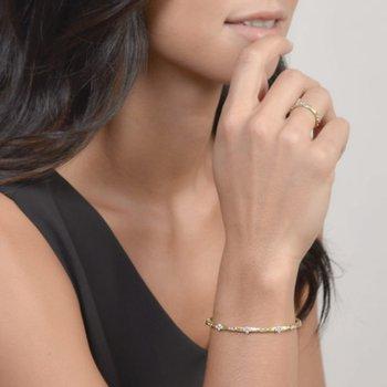18K Gold Diamond Bangle