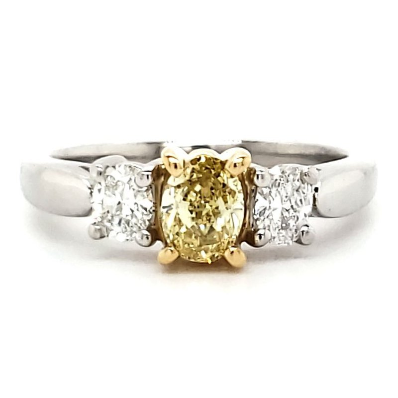 Estate Collection Fancy Yellow Diamond Ring