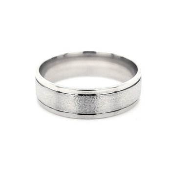 Men's White Gold Band