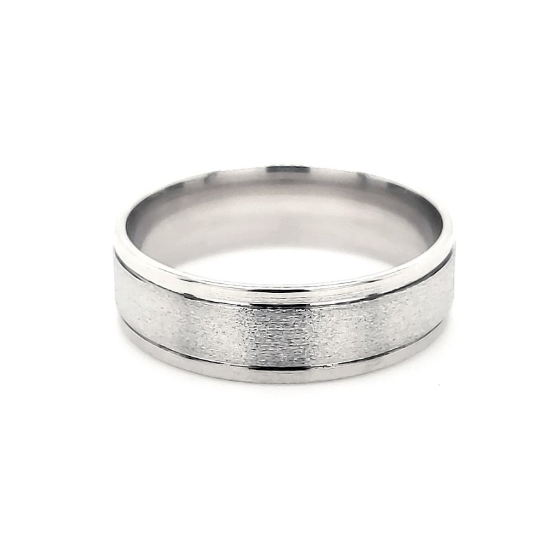 Estate Collection Men's White Gold Band