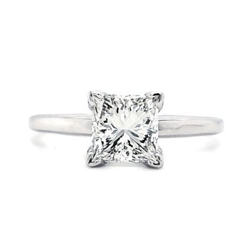 1.50 CT Princess Solitaire