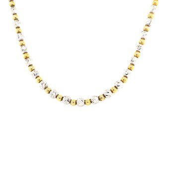Diamond Cut Bead Necklace