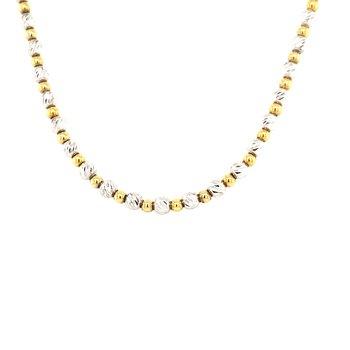 Diamond Cut Bead Necklace