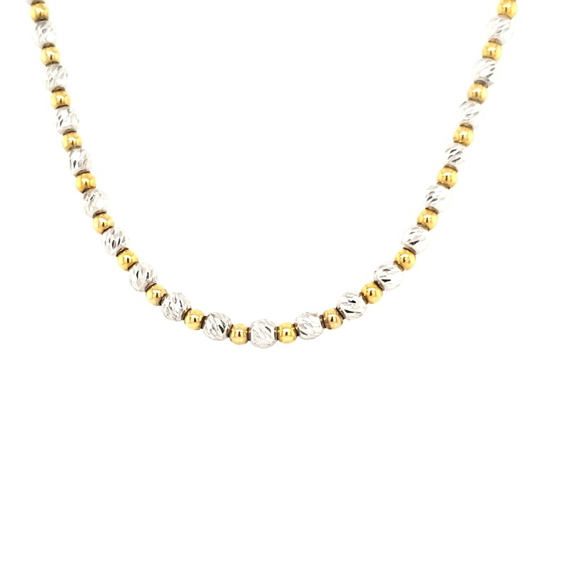 Estate Collection Diamond Cut Bead Necklace