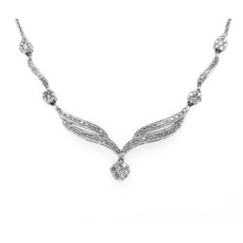 Vintage Inspired Diamond Necklace