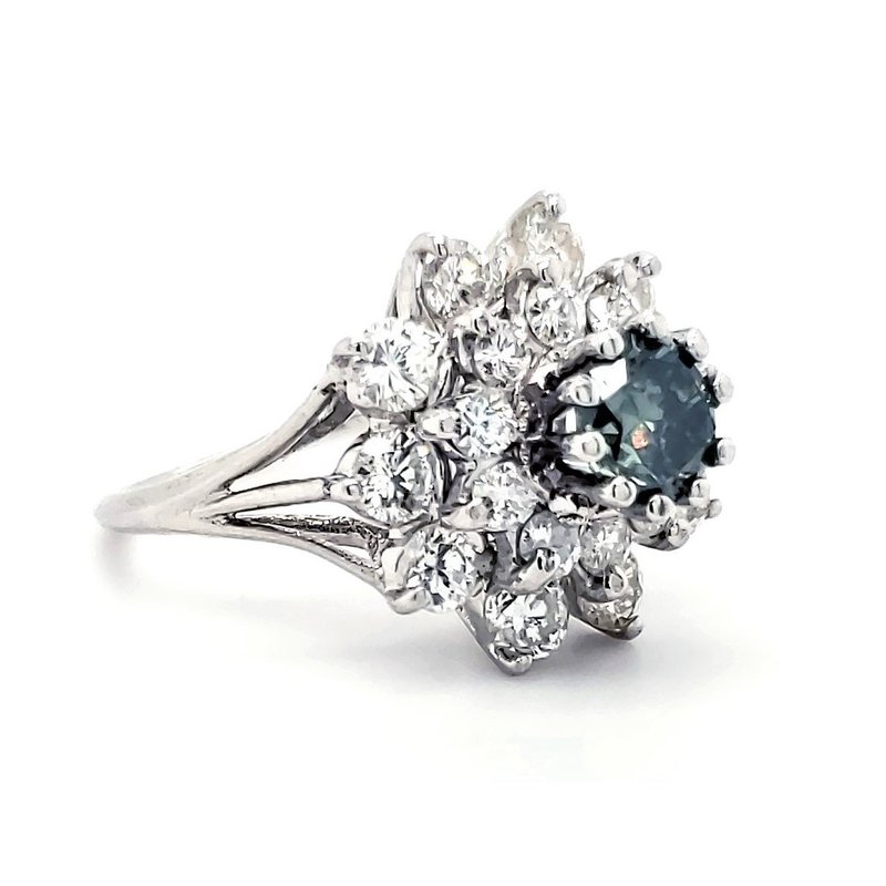 Estate Collection Green Diamond Fashion Ring