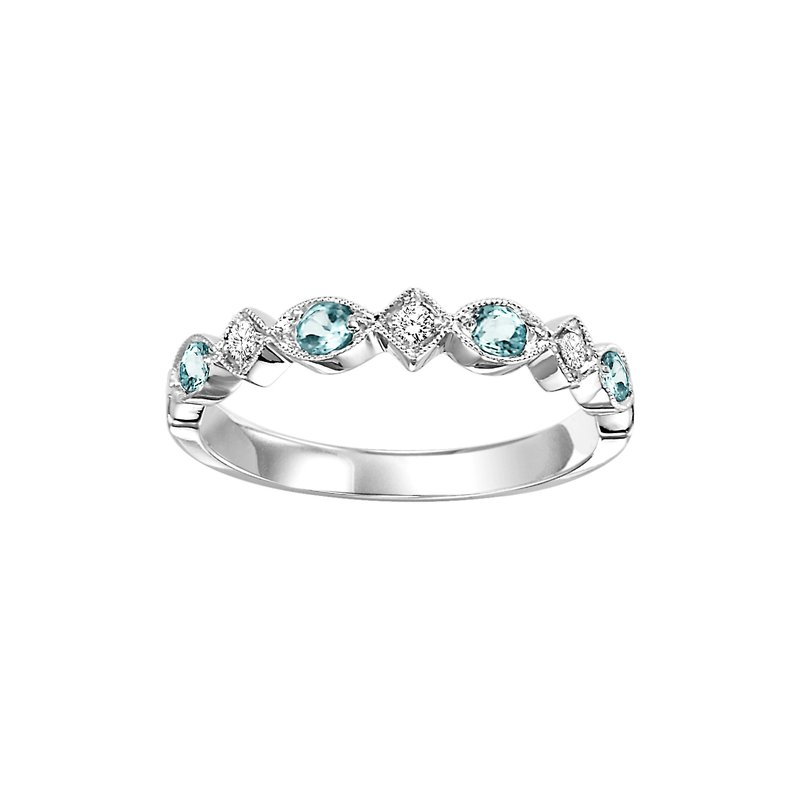 Sartor Hamann Signature Blue Topaz Mixable Birthstone Rings in 4 Styles
