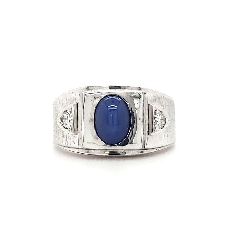 Estate Collection Men's Linde Star Ring