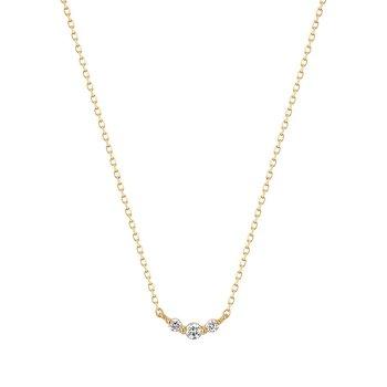 Inez Triple Diamond Necklace