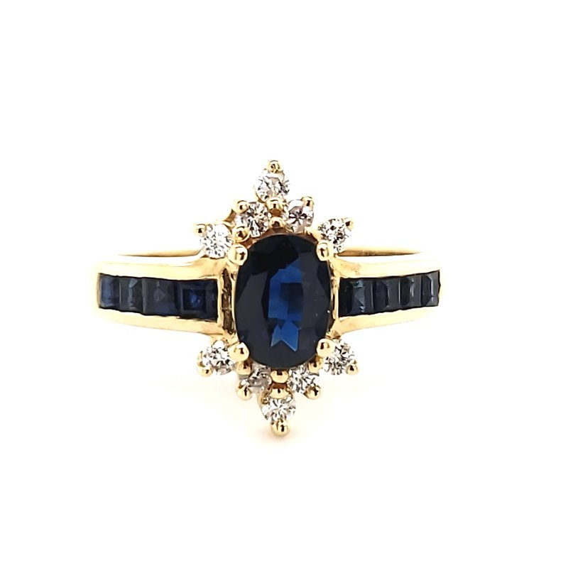 Estate Collection Sapphire and Diamond Ring