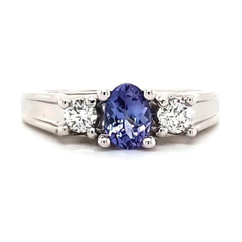 Estate Collection Tanzanite and Diamond Ring