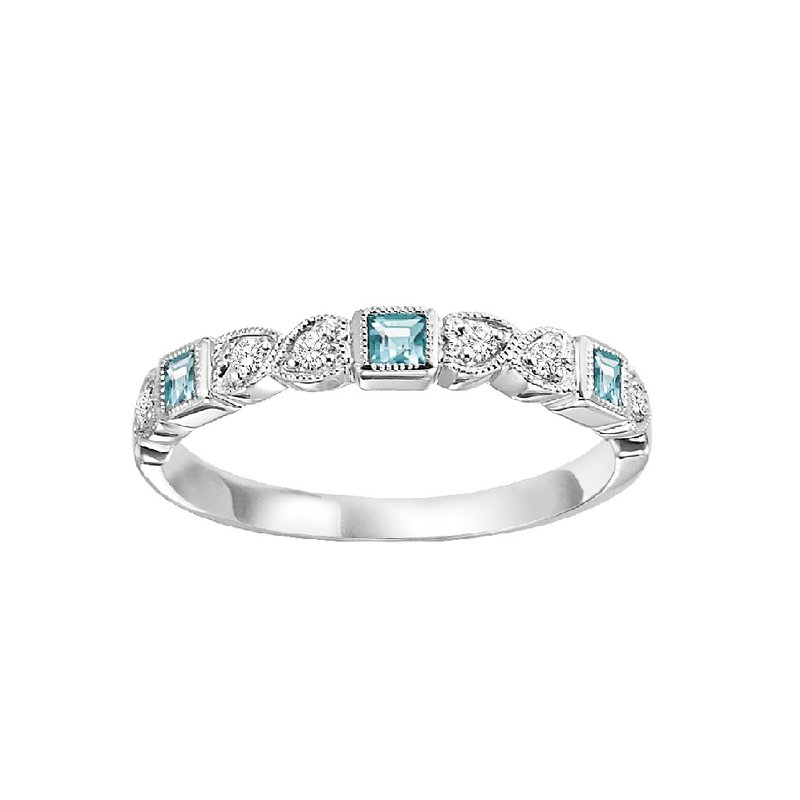 Sartor Hamann Signature Aquamarine Mixable Birthstone Rings in 4 Styles