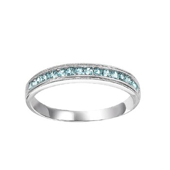 Aquamarine Mixable Birthstone Rings in 4 Styles