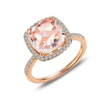Lafonn Sterling Silver Rose Gold Plated Ring