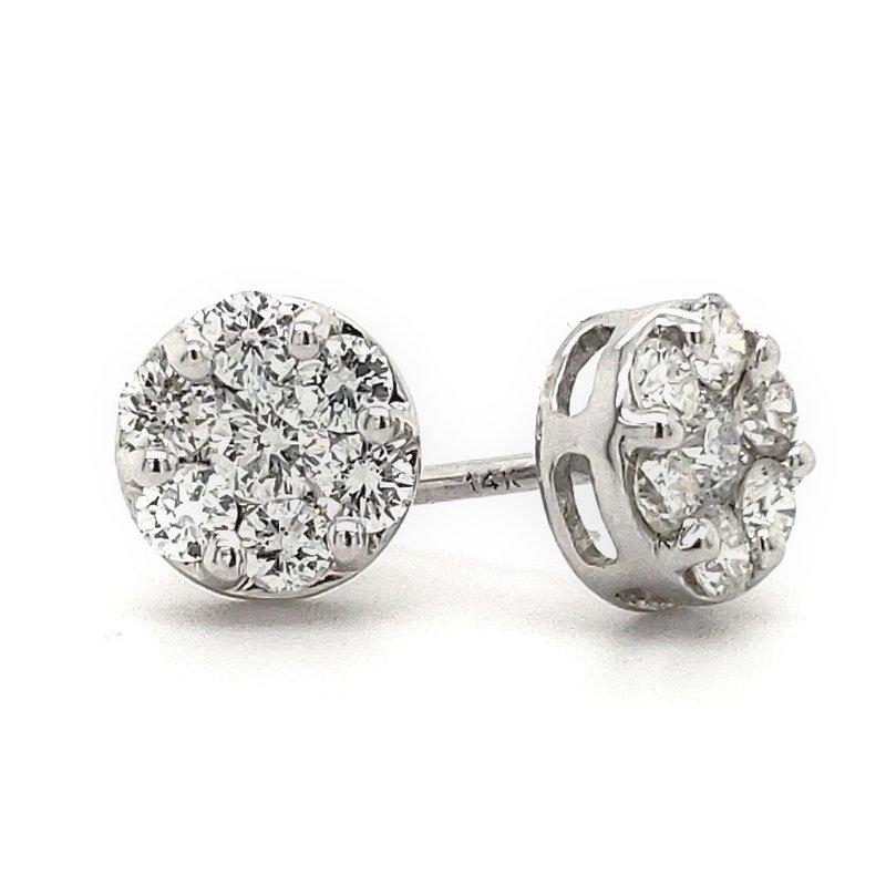 Sartor Hamann Closeouts Cluster Diamond Earrings