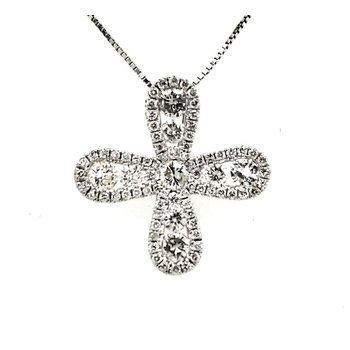 Infinity Diamond Cross Pendant