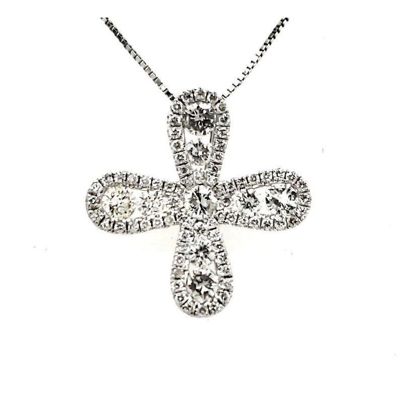 Sartor Hamann Closeouts Infinity Diamond Cross Pendant