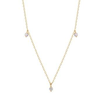 Cressida Floating Triple Diamond Necklace