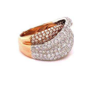 White and Rose 2ct Diamond Ring