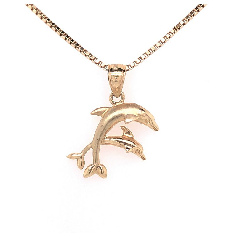 Estate Collection Gold Dolphin Pendant