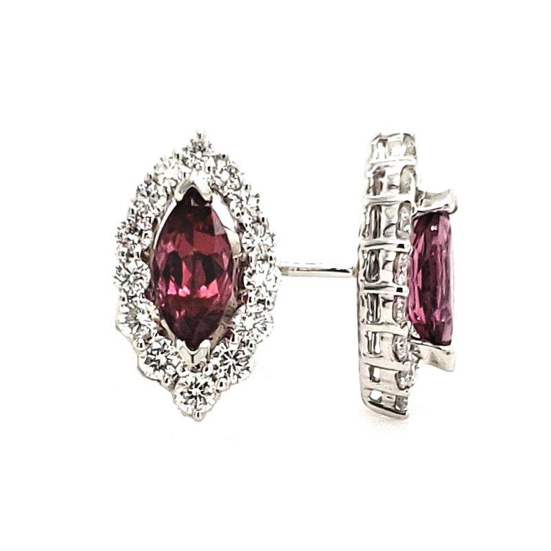 Sartor Hamann Closeouts Rhodalite Garnet Earrings