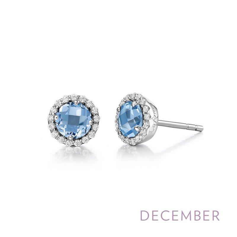 Silver Birthstone Earrings