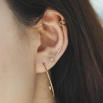 Dot Disc Stud Earrings