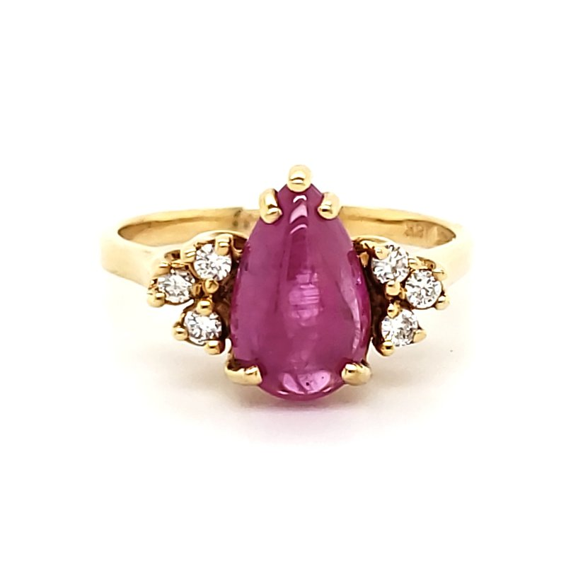 Estate Collection Pink Sapphire and Diamond Ring
