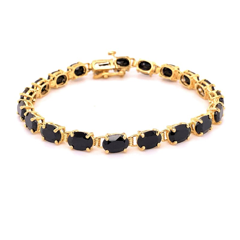 Estate Collection  Black Onyx Tennis Bracelet