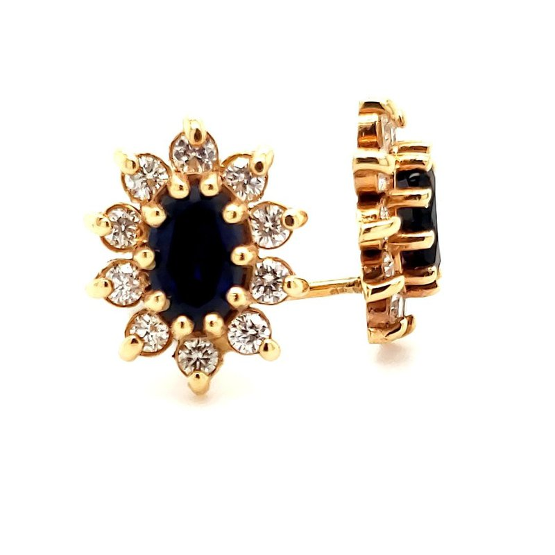 Sartor Hamann Closeouts Sapphire and Diamond Earrings