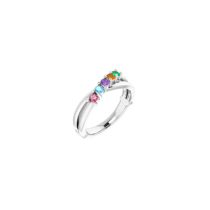 Sartor Hamann Signature 5-Stone Family Ring in 14K