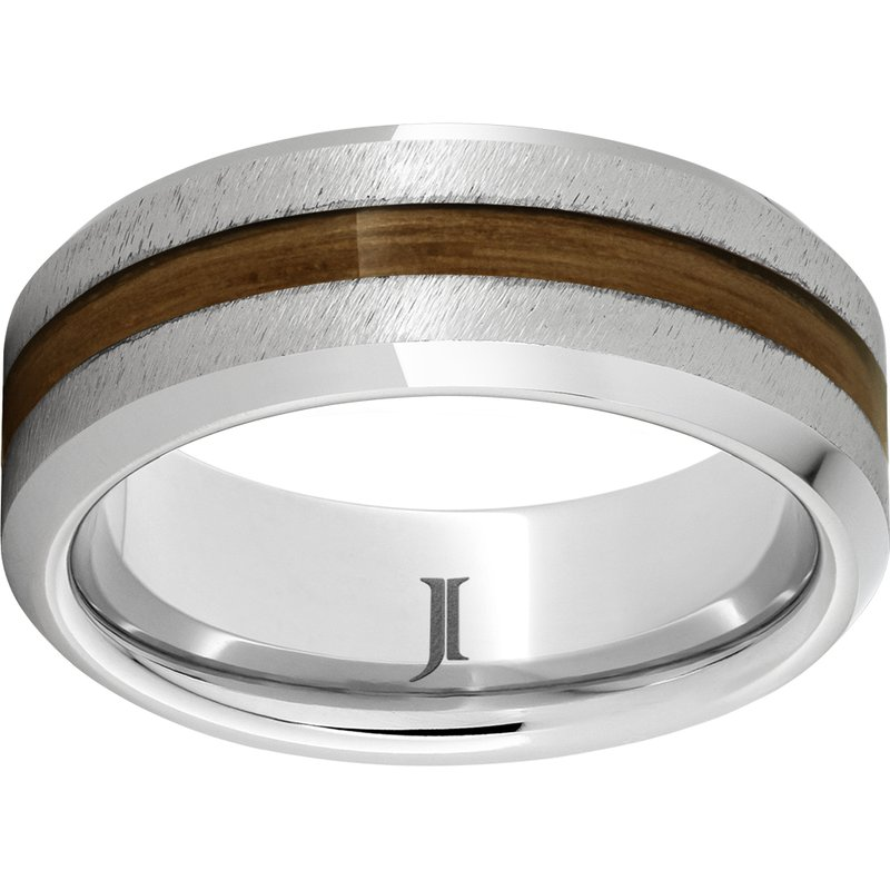 Barrel Aged Collection Exotic Wood Inlay Wedding Band