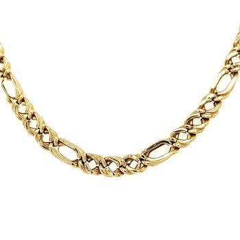 """18K 20"""" Figaro Chain"""