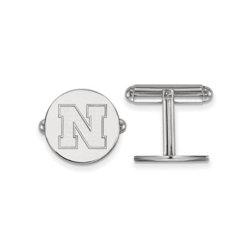 """Husker Jewelry Collection Husker """"N"""" Cuff Links"""