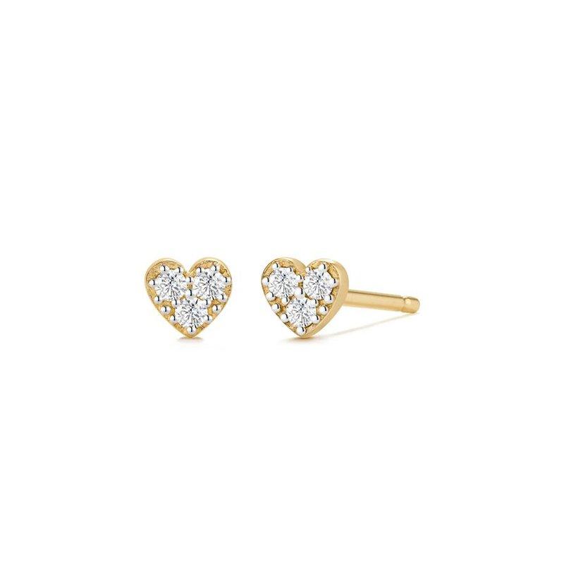Aurelie Gi Sophie Diamond Heart Studs