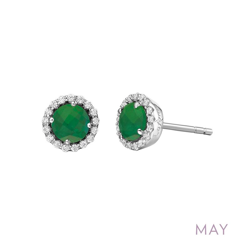 Sartor Hamann Signature Sterling Silver Birthstone Earrings in 12 Colors