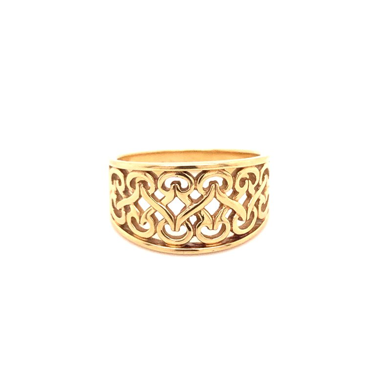 Estate Collection Scroll Design Tapered Band