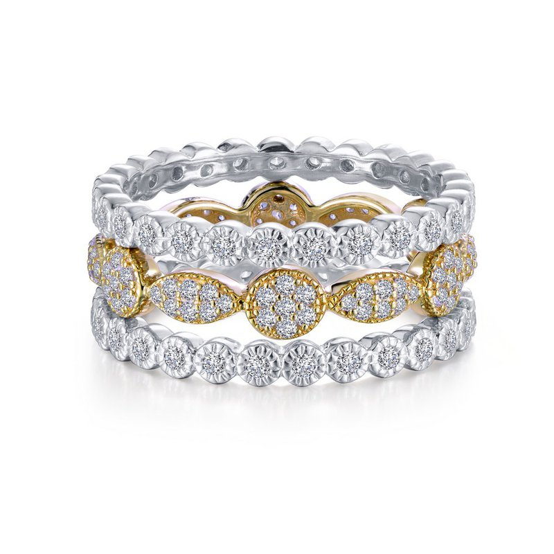 Sartor Hamann Signature Lafonn Sterling Silver Stackable Ring