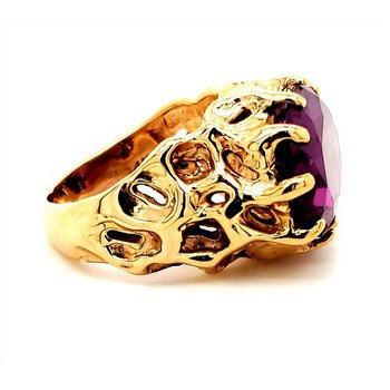 Purple Sapphire Nugget Ring