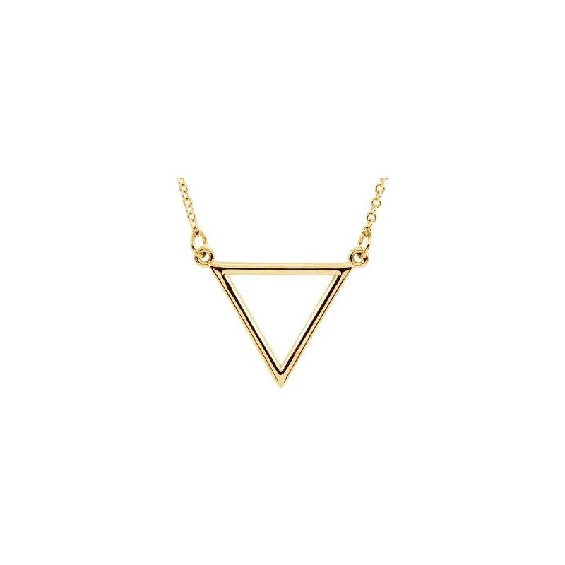Sartor Hamann Signature 14K Yellow Gold Triangle Pendant
