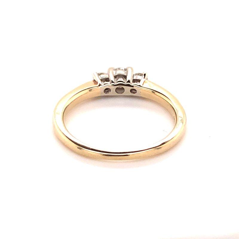 Estate Collection Three Stone Diamond Ring