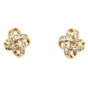 Diamond Love Knot Earrings