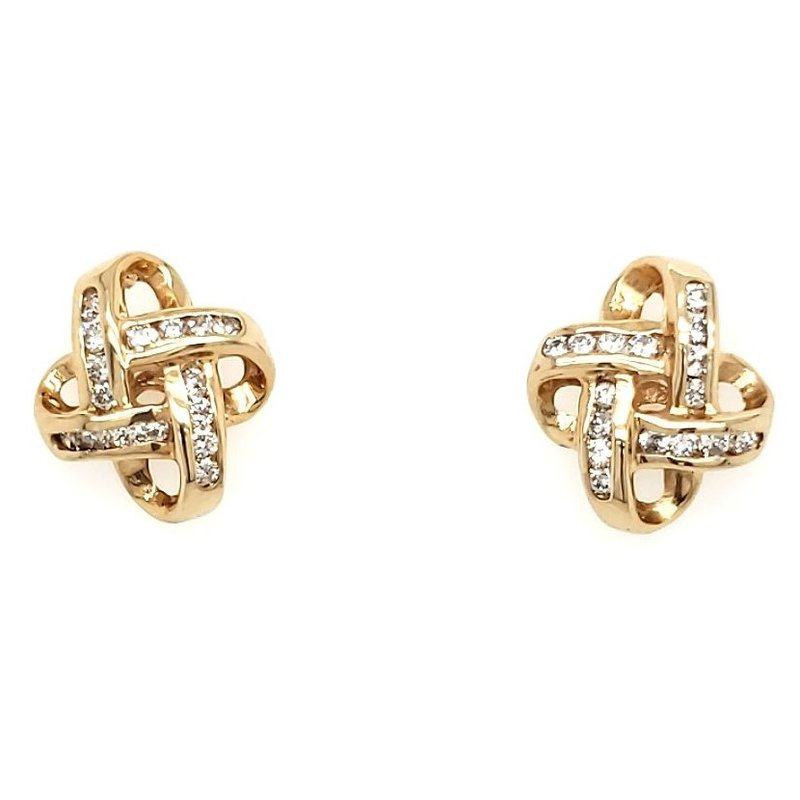 Estate Collection Diamond Love Knot Earrings